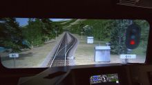 Inside a Canadian Pacific Railway simulator