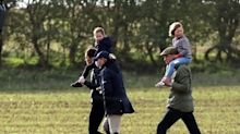 Princess Charlotte Rides on Kate Middleton's Shoulders During Fun Family Day with Prince George
