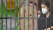 Rhea Chakraborty is given chapati dal at Byculla Lockup