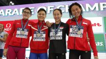 Singapore mixed relay team pip China to silver at Fina Swimming World Cup