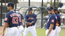 Astros minus 8 pitchers because of coronavirus protocols
