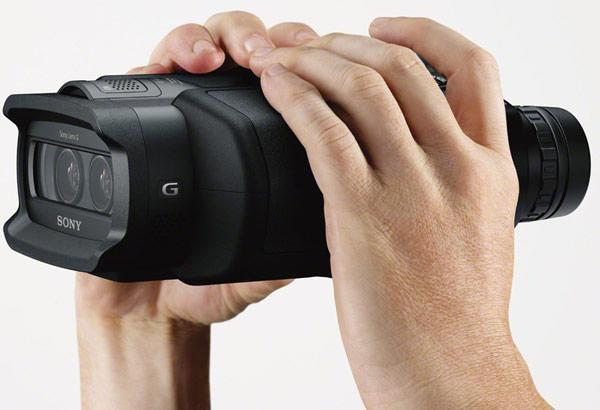 Sony Digital Recording Binoculars look like military night vision goggles, cost almost as much