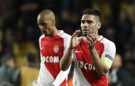 Monaco's Radamel Falcao looks dejected after the match