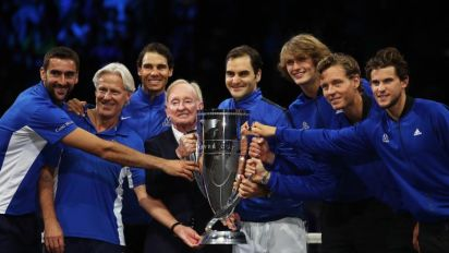Roger Federer leads Team Europe to inaugural Laver Cup success
