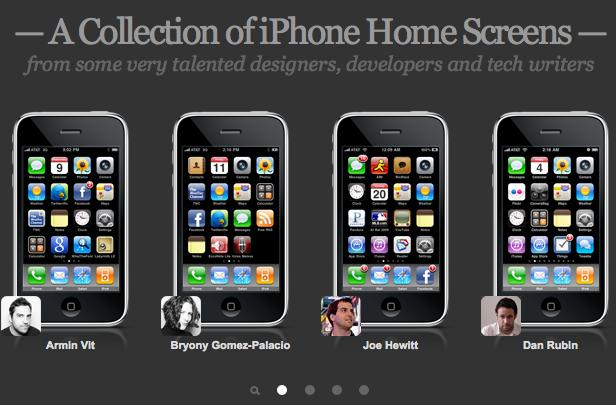 A collection of iPhone home screens from your favorite Apple celebrities