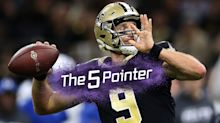 The Five Pointer: Brees' star performance, female darts player eyes historic win, Boxer takes a tumble