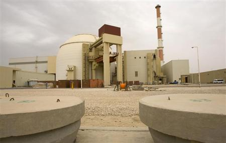 View of the reactor at the nuclear power plant in Bushehr
