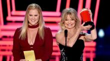 Amy Schumer and Goldie Hawn Spoof Oscars Blunder During MTV Movie & TV Awards