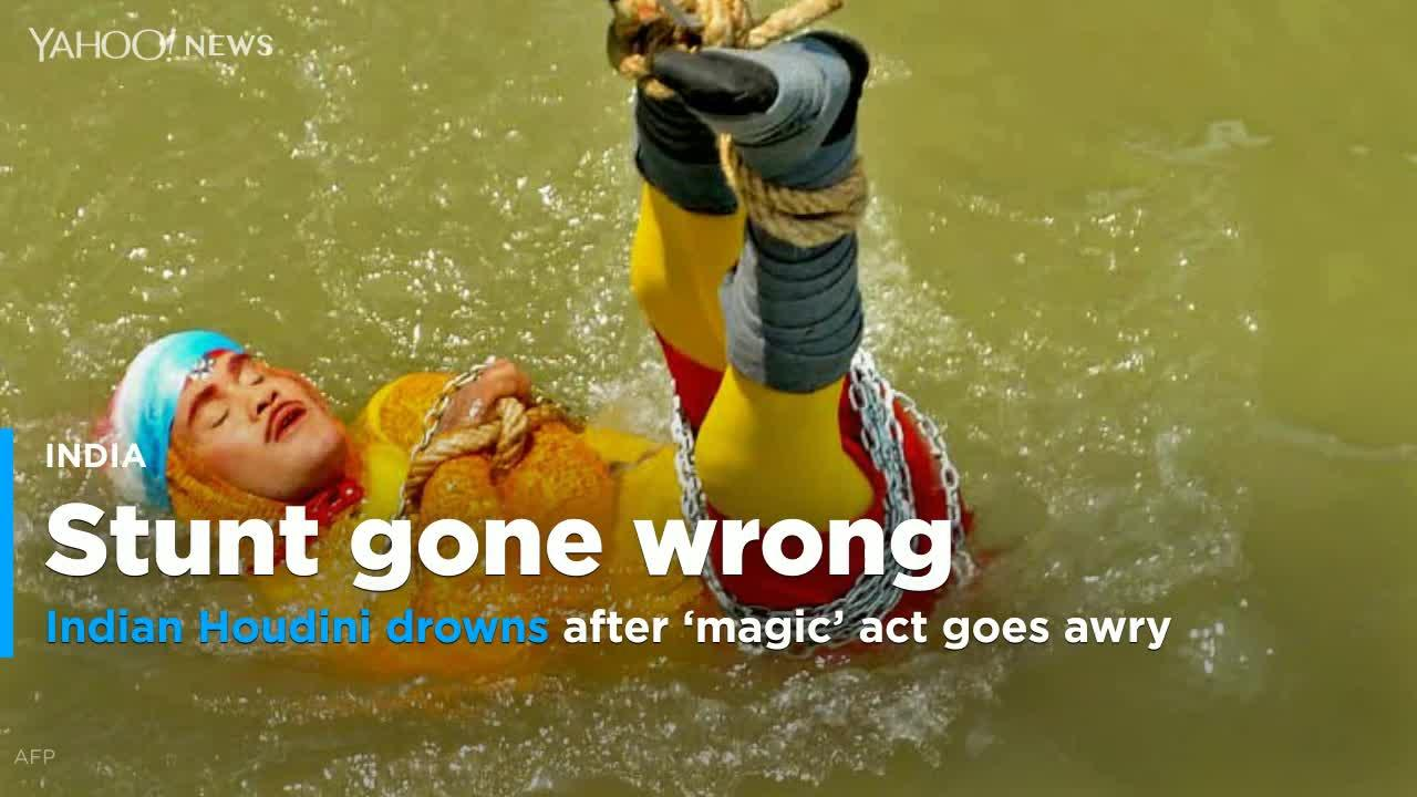 Indian magician drowns while trying to replicate underwater