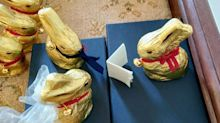 Couple forced to postpone wedding due to coronavirus host own ceremony using 115 chocolate bunnies