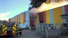 About 120 firefighters tackle blaze at food factory in east London