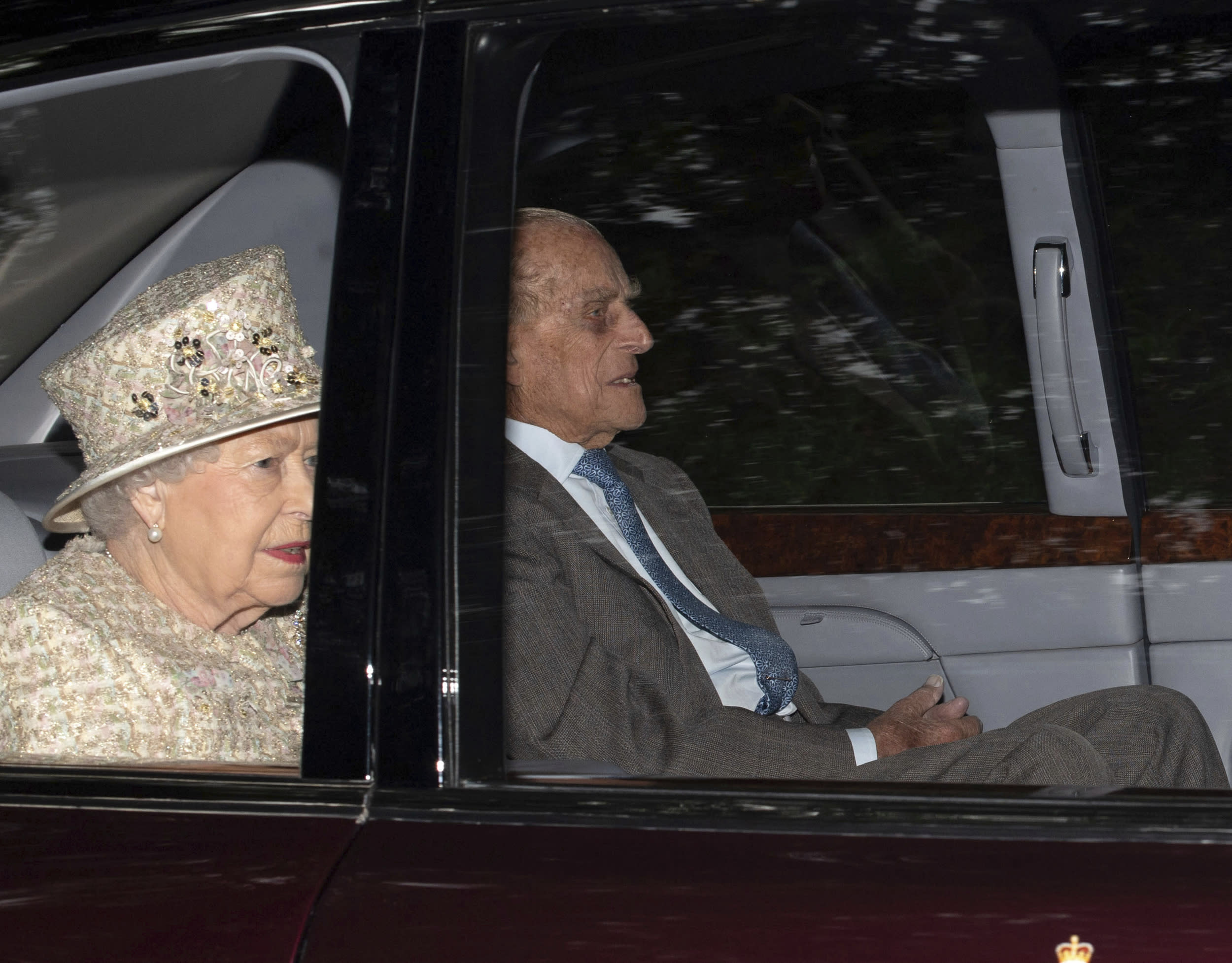 January 17, 2019 - Prince Philip The Duke of Edinburgh was not injured in a two-car crash as he was driving his Land Rover near Sandringham Estate. - File Photo by: zz/KGC-492/STAR MAX/IPx 2018 8/19/18 Her Majesty Queen Elizabeth II is joined by Prince Philip The Duke of Edinburgh, Charles The Prince of Wales and Camilla The Duchess of Cornwall as she attends the Sunday Church Service at Crathie Kirk - the regular place of worship of the British Royal Family when they are on holiday at Balmoral Castle. (Crathie, Aberdeenshire, Scotland, UK)
