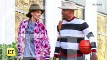 Katie Holmes and Jamie Foxx Spend Valentine's Day Playing Basketball -- See the Pics! (Exclusive)
