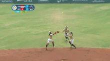 VIDEO   El terrible triple choque de jugadoras de softball en los Juegos Asiáticos