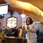 Kamala Harris at church: 'This is where we go when the times test our faith'