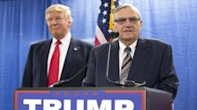 Arizona's tough-guy sheriff, Joe Arpaio, wrote the outrage playbook Trump used last night