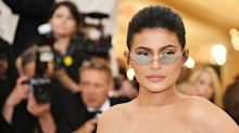 Kylie Jenner Shows Off Her Abs and Bra