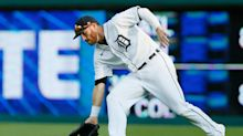 Detroit Tigers OF Robbie Grossman leaves game with left elbow contusion after hit by pitch
