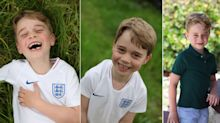 Prince George shows sporty side as he marks sixth birthday in England football shirt