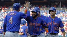 Hoskins homers again, Phillies beat Mets 9-6 to earn split