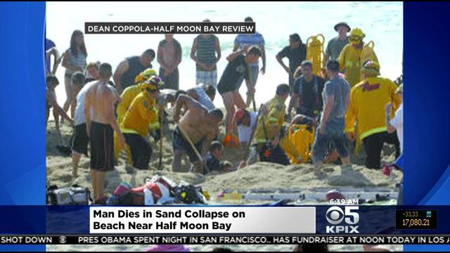 Man Dies After Tunnel In Sand Collapses On Half Moon Bay Beach