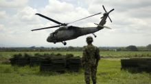 Colombian military copter crashes, killing 4: officials