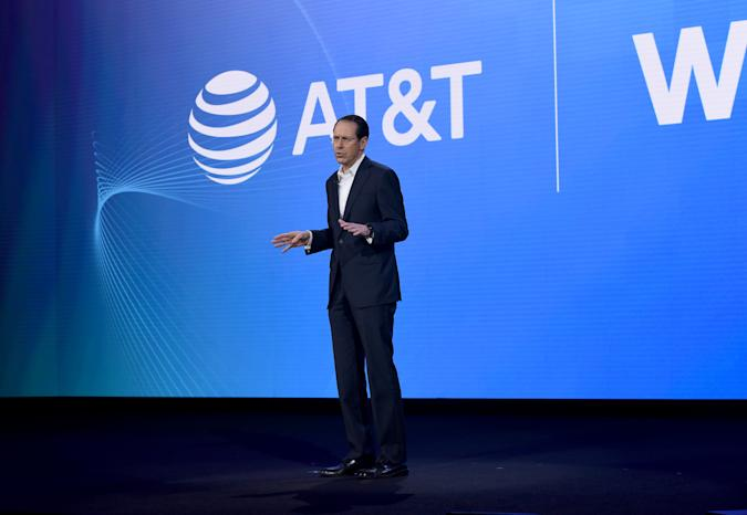 BURBANK, CALIFORNIA - OCTOBER 29: Randall Stephenson, Chairman of The Board & Chief Executive Officer of AT&T, speaks onstage at HBO Max WarnerMedia Investor Day Presentation at Warner Bros. Studios on October 29, 2019 in Burbank, California. (Photo by Presley Ann/Getty Images for WarnerMedia)
