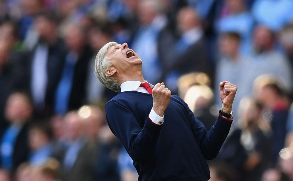 Arsene Wenger's joy at Wembley