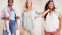 Anthropologie just added a ton of size-inclusive styles to their end-of-season sale