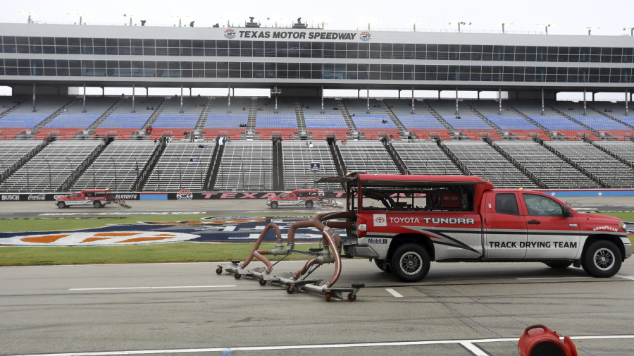 Cup playoff race at Texas postponed again