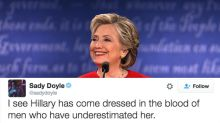 People Are Obsessed with Clinton's Red Power Suit