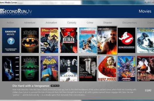 SecondRun.tv v2.5 Media Center plugin arrives with upgraded integration of locally stored files, Netflix, Crackle