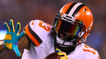 OBJ forced to leave game due to illegal visor