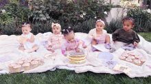 The Kardashians celebrated True Thompson's first 6 months with a 'cousin cupcake party'