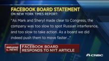 Facebook responds to bombshell New York Times article