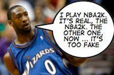 EA's NBA Live cover Gilbert Arenas prefers NBA 2K series