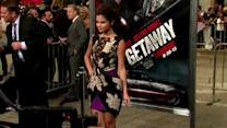 Selena Gomez Does a Miley Cyrus and Sticks Her Tongue Out at Getaway Premiere