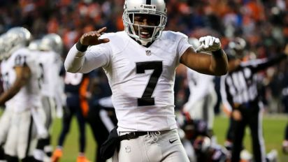 Here's Marquette King punting some food