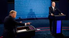 Stock markets mostly down after chaotic Trump-Biden debate