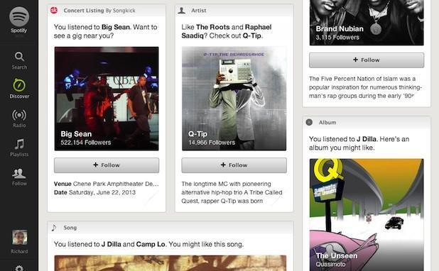 Spotify Discover launches for all with integration from Songkick, Pitchfork and more