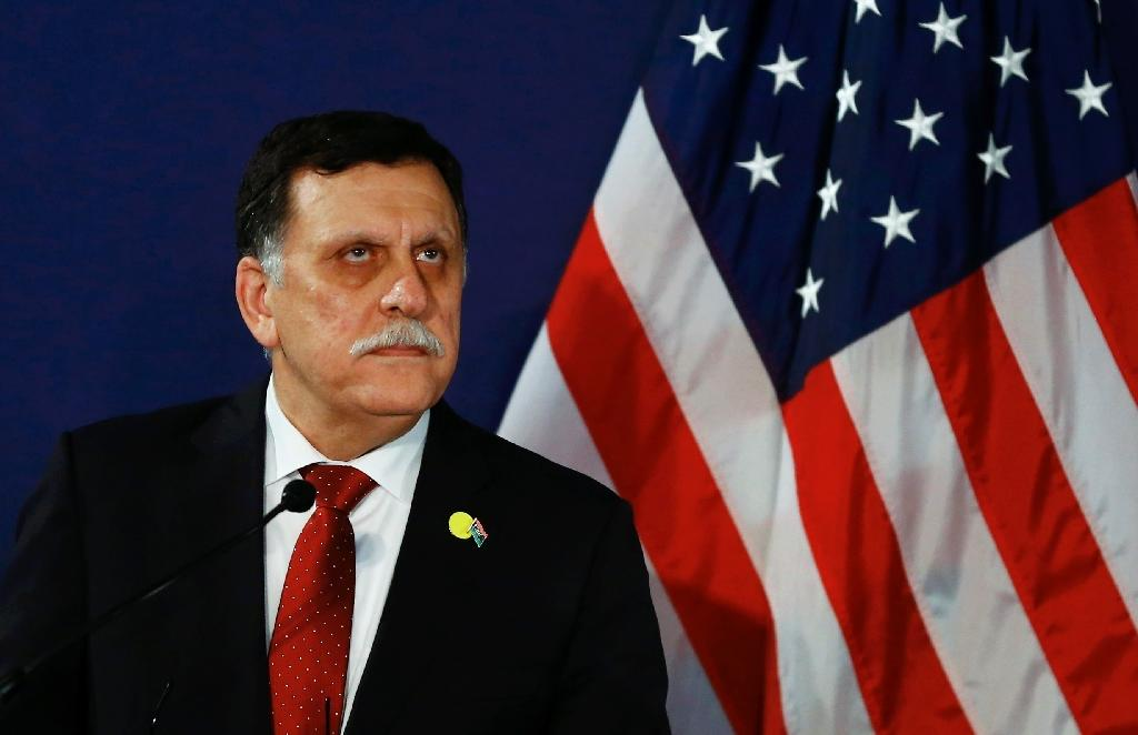 Libyan prime minister-designate Fayez al-Sarraj addresses a press conference on May 16, 2016 in Vienna, Austria (AFP Photo/Leonhard Foeger)