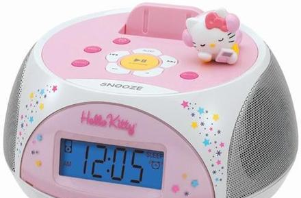 Hello Kitty gets its own iPod docking station / stereo clock