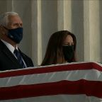 Pence pays respects to Justice Ginsburg at Supreme Court