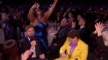 Lizzo downs neat tequila while hilariously derailing Jack Whitehall's presenting at the Brit Awards