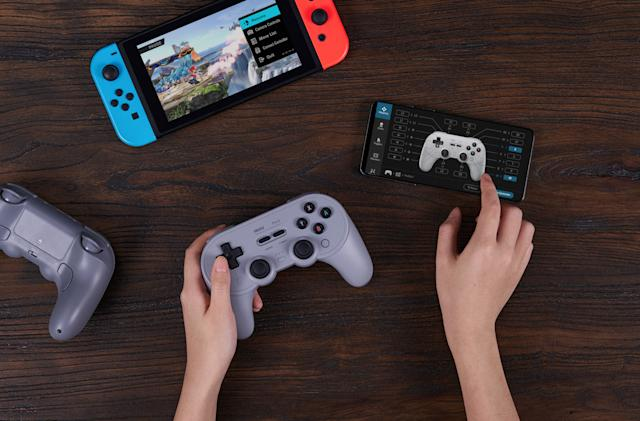 8BitDo's Pro 2 controller adds back paddles and a quick profile switcher