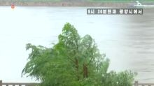 Península coreana é atingida por tufão
