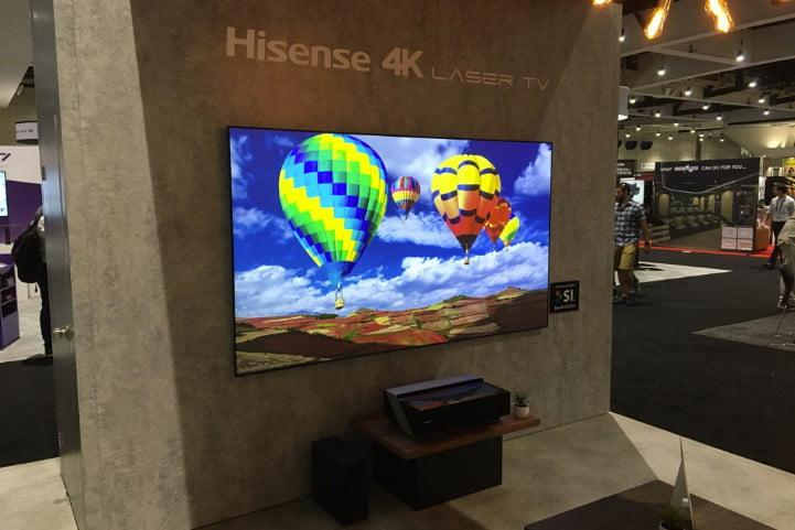 Hisense Laser TV is a projector that puts 100 inches of awesome on