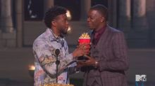 Chadwick Boseman honors Waffle House hero at MTV Movie & TV Awards