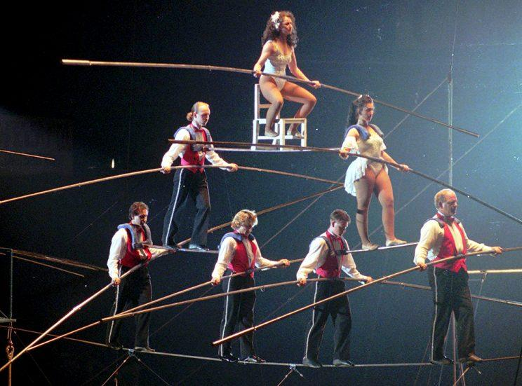 performers circus skills and high wire