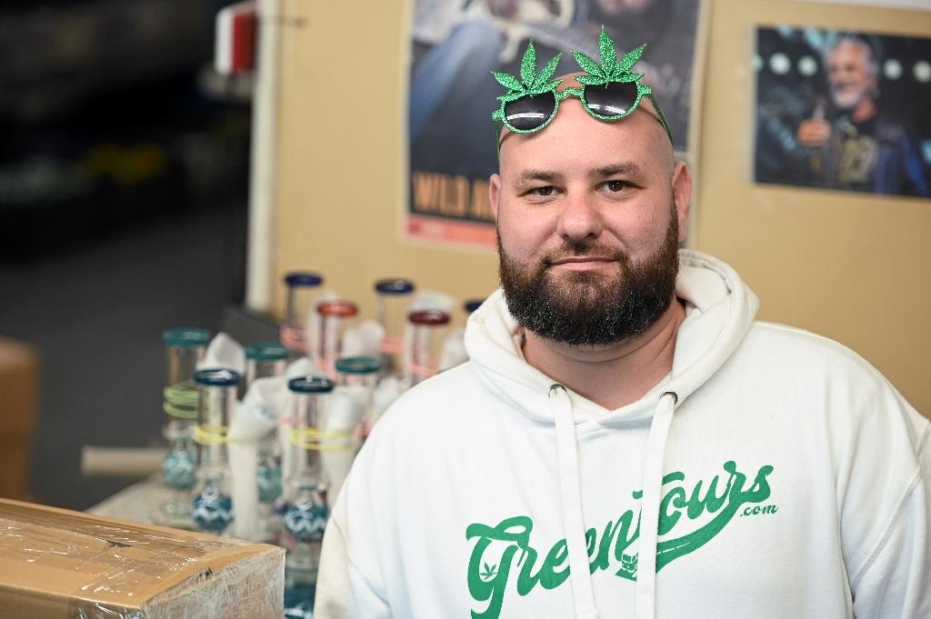 Gene Grozovskiy founded Green Tours, where the focus is marijuana (AFP Photo/Robyn Beck)